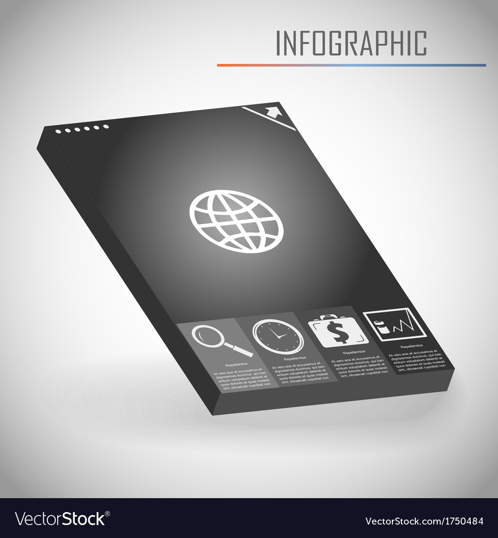 Infographics template vector | Price: 1 Credit (USD $1)