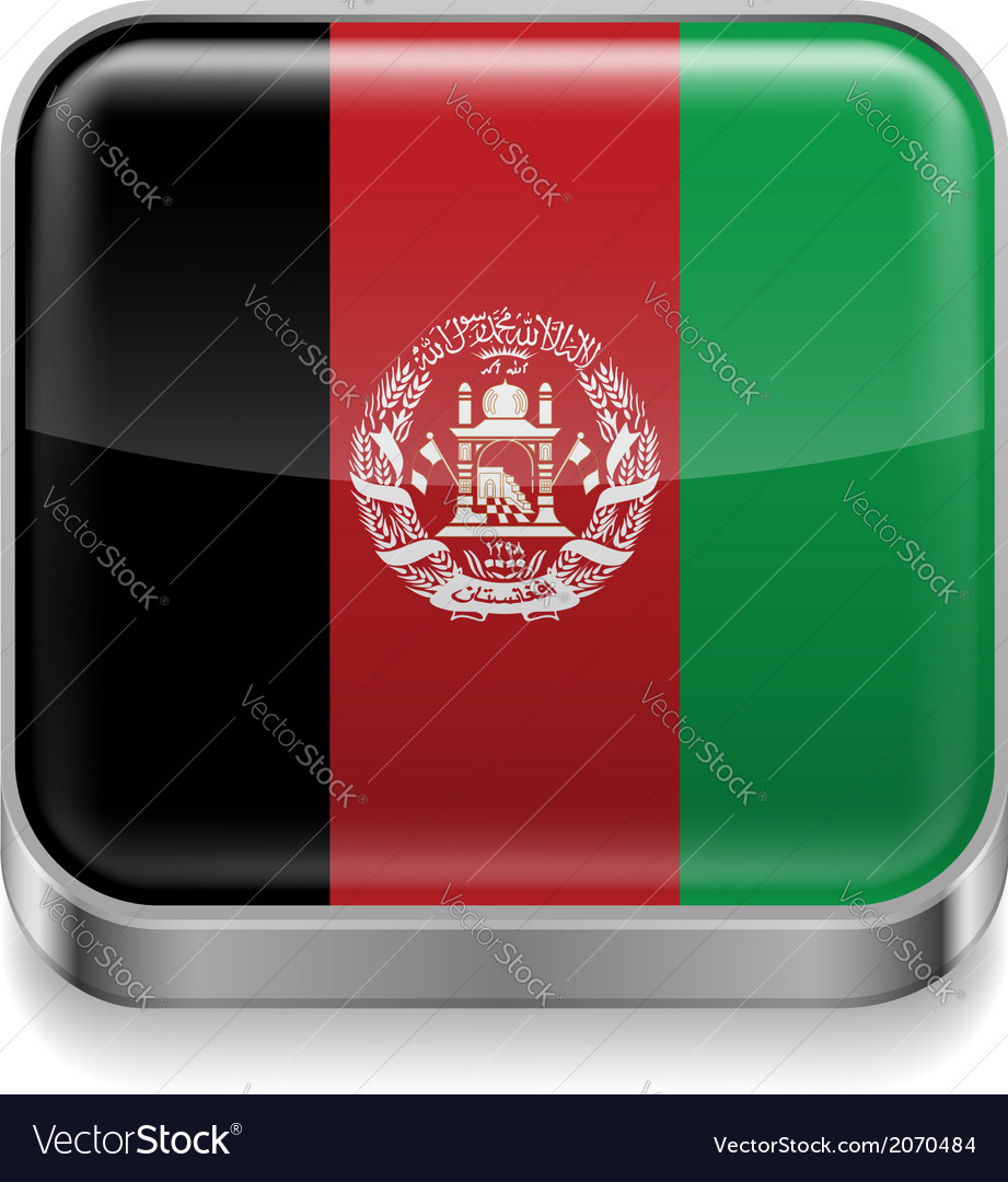Metal icon of afghanistan vector | Price: 1 Credit (USD $1)