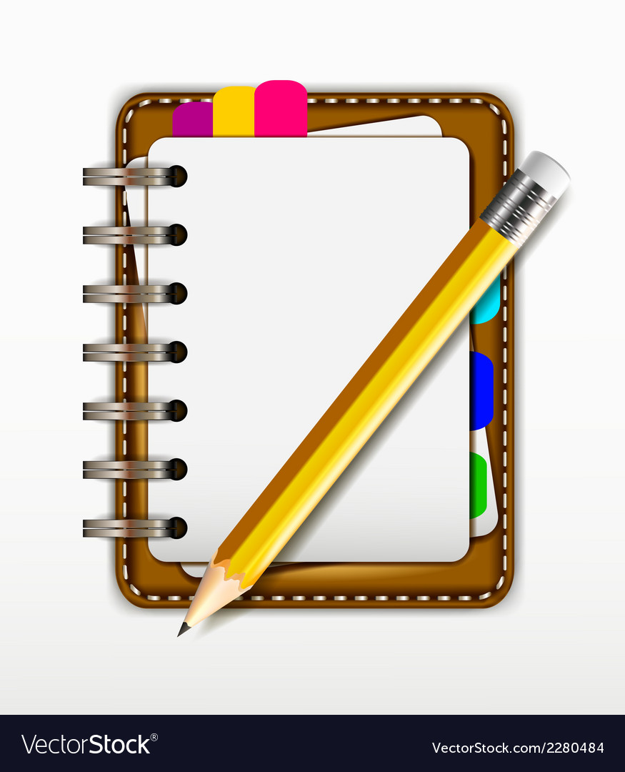 Notepad for you design vector | Price: 1 Credit (USD $1)