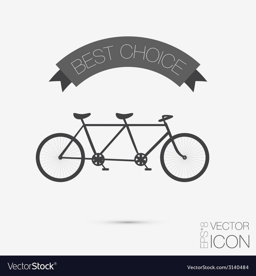 Retro bicycle icon symbol of transport icon of a vector   Price: 1 Credit (USD $1)