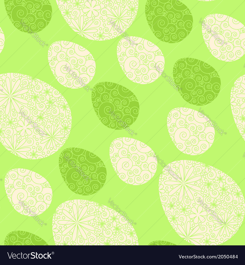 Seamless easter eggs pattern vector | Price: 1 Credit (USD $1)