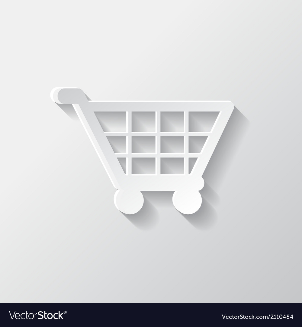 Shopping basket icon vector | Price: 1 Credit (USD $1)