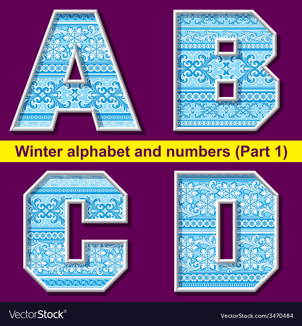 Winter abc 01 vector | Price: 1 Credit (USD $1)