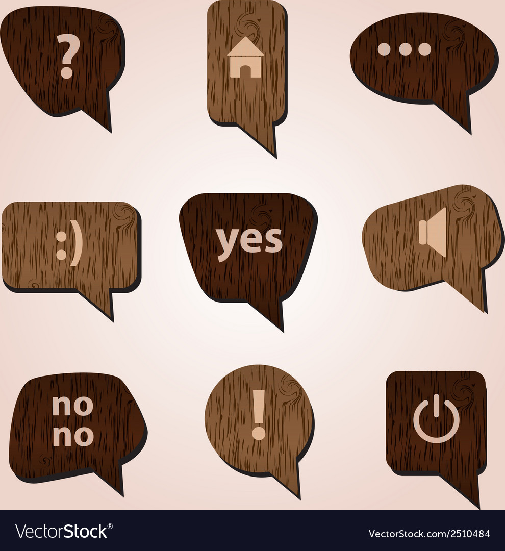 Wood speak bubbles eps10 vector | Price: 1 Credit (USD $1)