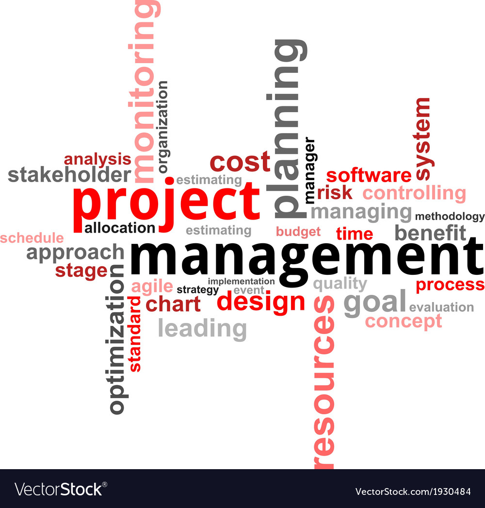 Word cloud project management vector | Price: 1 Credit (USD $1)