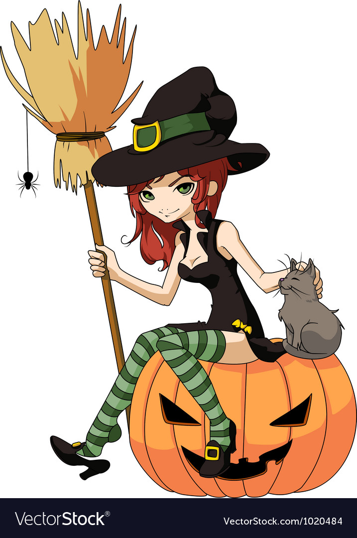 Young witch vector | Price: 1 Credit (USD $1)