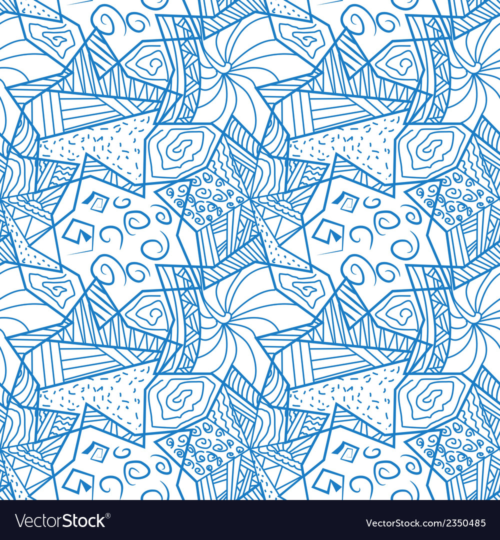 Abstract seamless pattern with stars vector | Price: 1 Credit (USD $1)