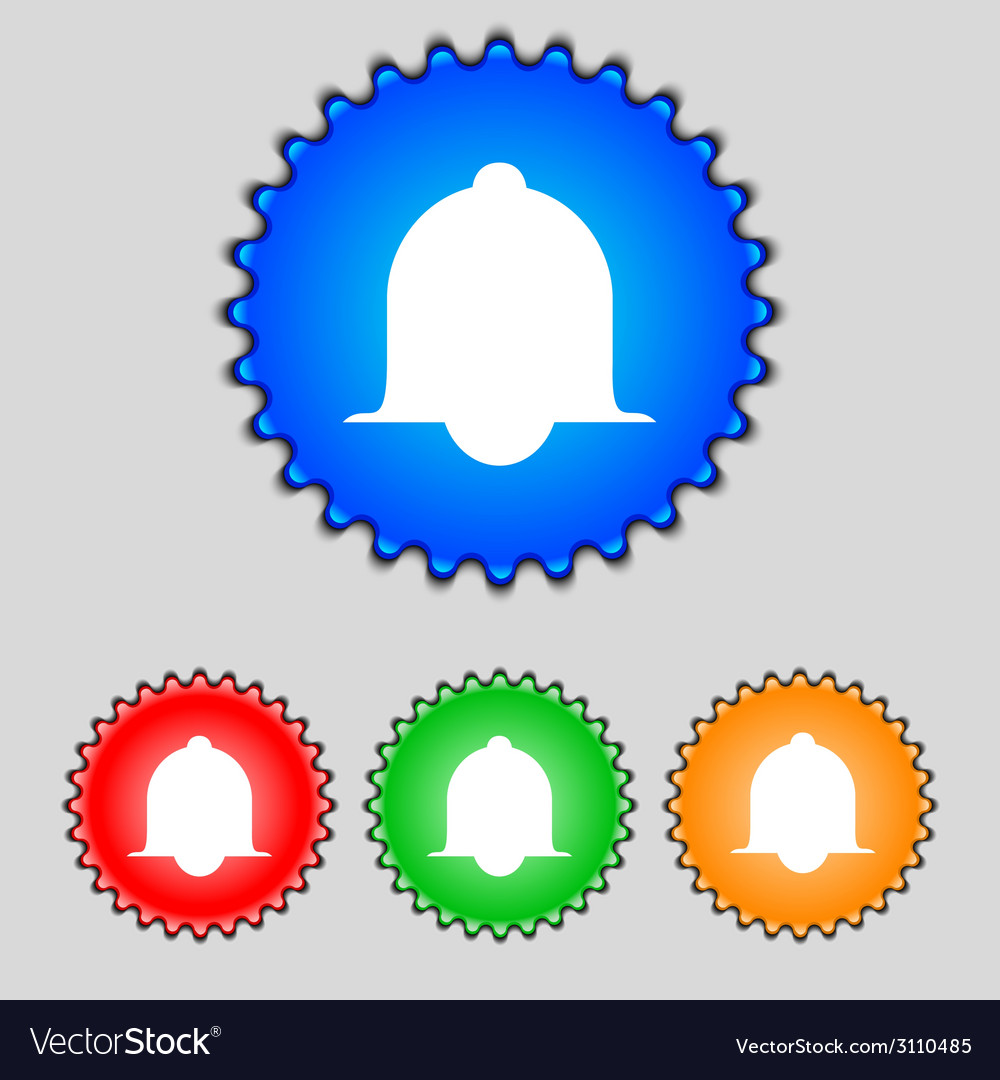 Alarm bell sign icon wake up alarm symbol speech vector | Price: 1 Credit (USD $1)