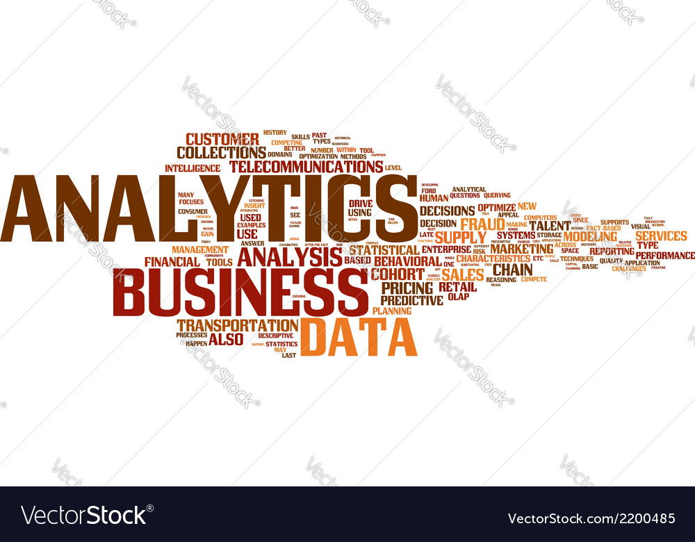 Business analysis wordcloud vector | Price: 1 Credit (USD $1)