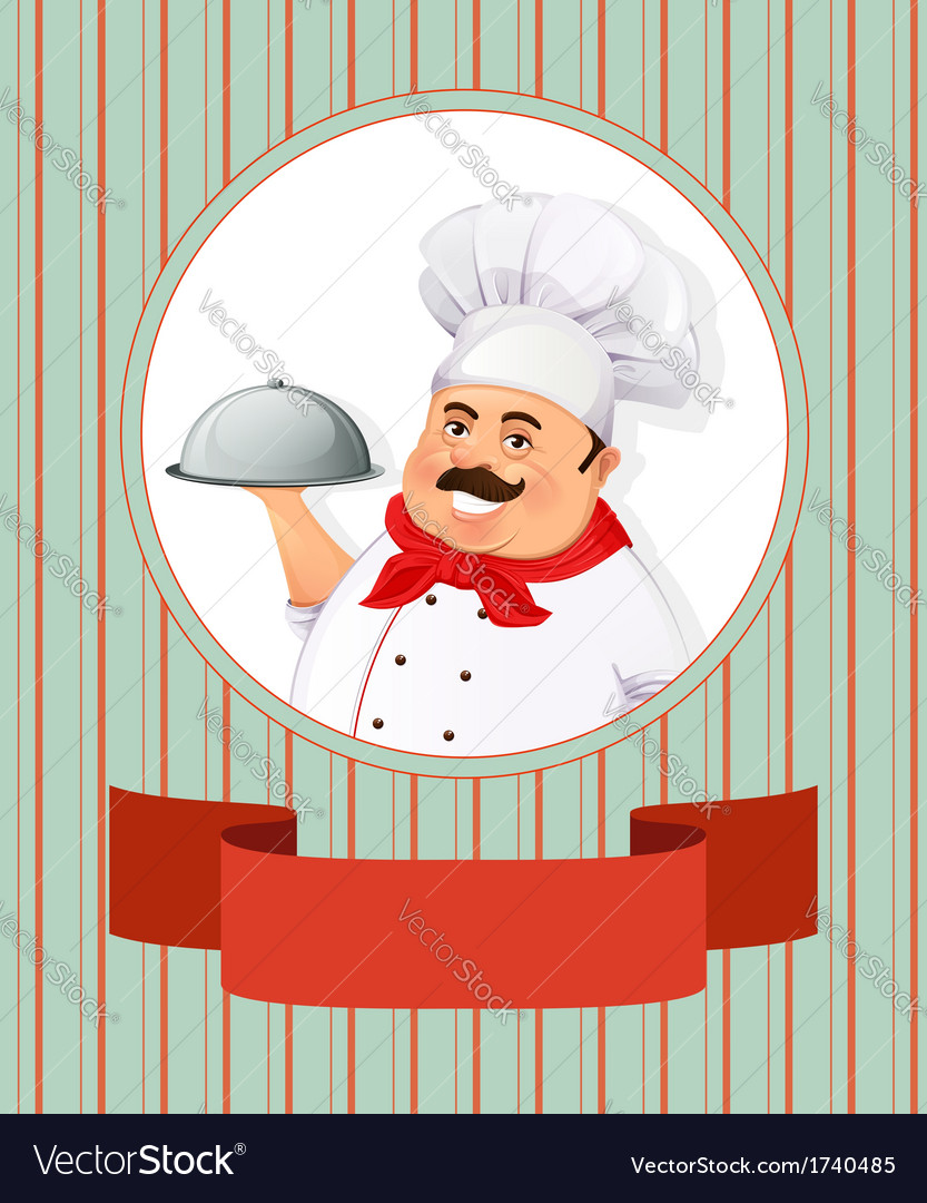 Cheerful smiling cook vector | Price: 1 Credit (USD $1)