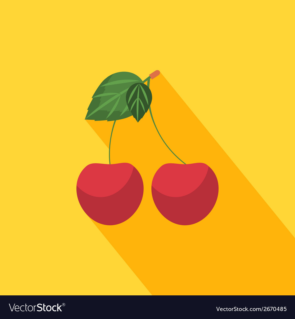 Cherry icon vector | Price: 1 Credit (USD $1)