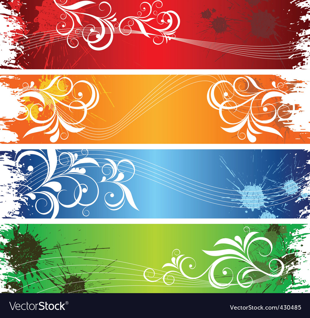 Coloured banners vector | Price: 1 Credit (USD $1)