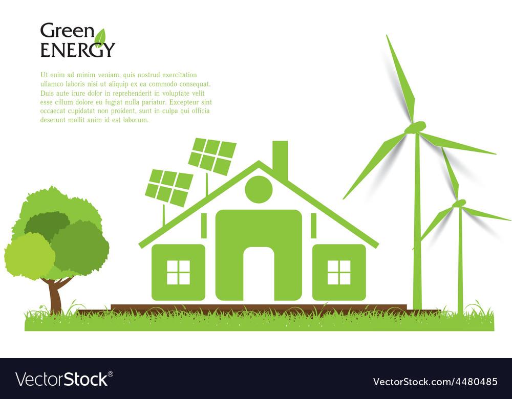 Creative renewable energy concept vector | Price: 1 Credit (USD $1)