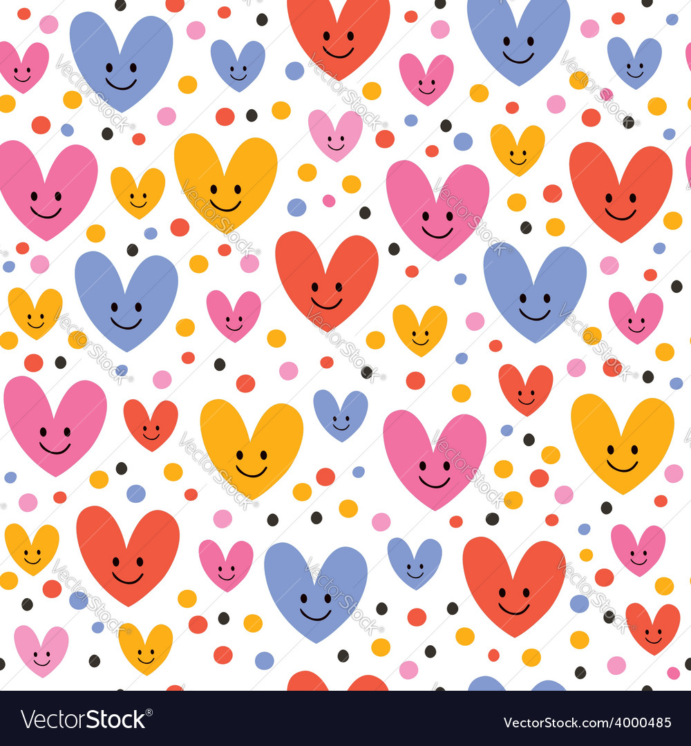 Cute hearts pattern 2 vector | Price: 1 Credit (USD $1)