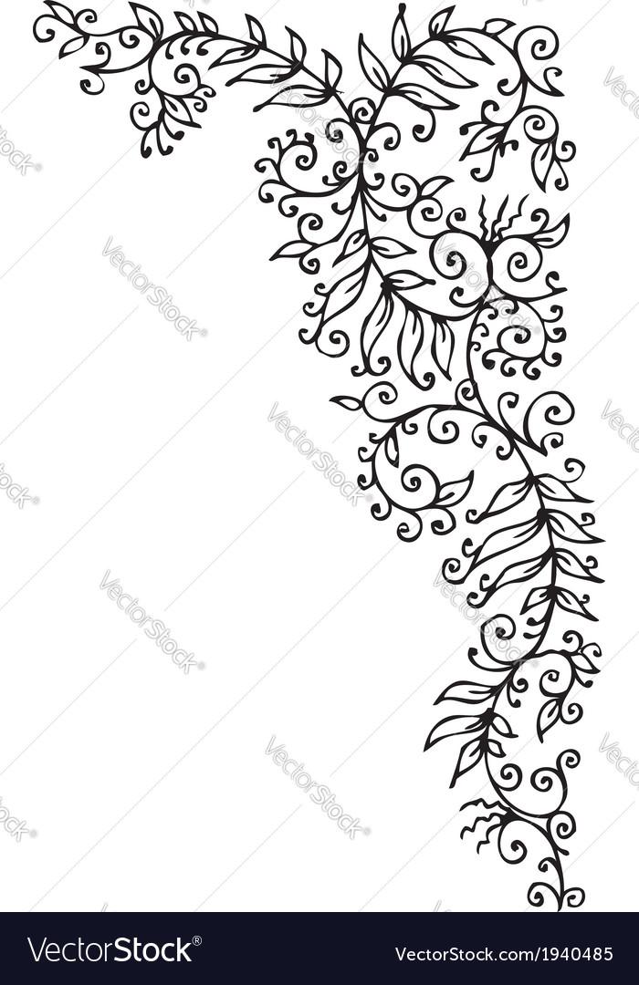 Floral vignette cccxc vector | Price: 1 Credit (USD $1)