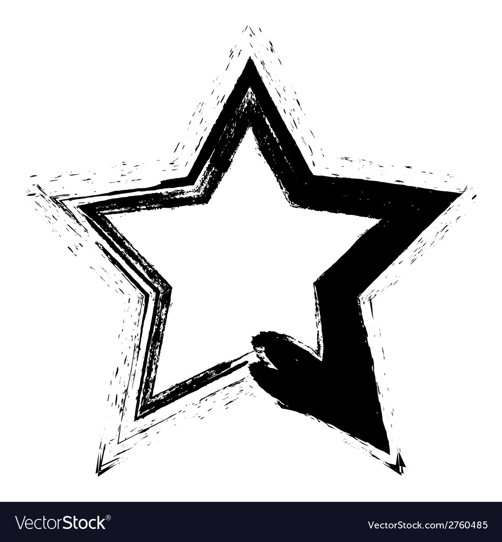 Grunge star vector   Price: 1 Credit (USD $1)