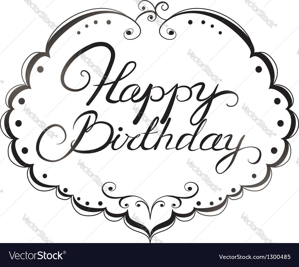 Happy birthday lettering vector | Price: 1 Credit (USD $1)