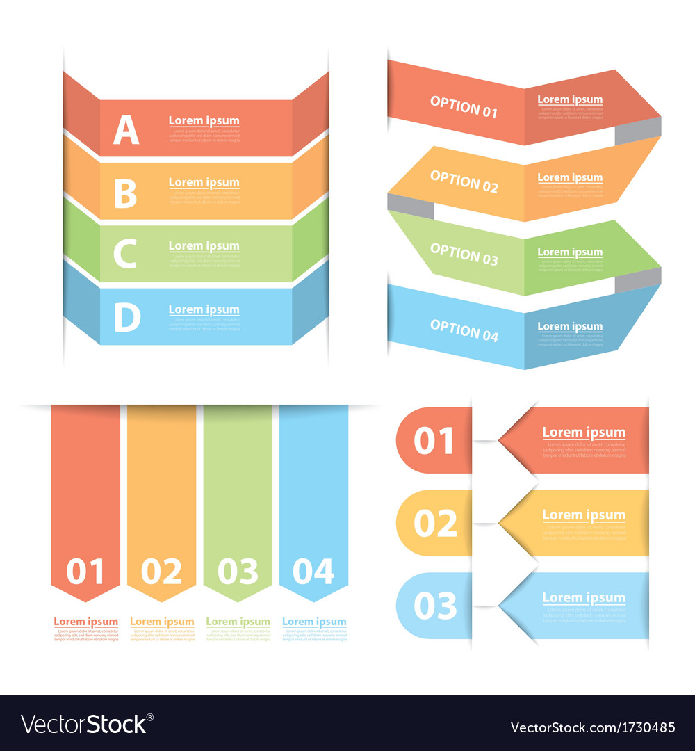 Option banner infographics set vector | Price: 1 Credit (USD $1)
