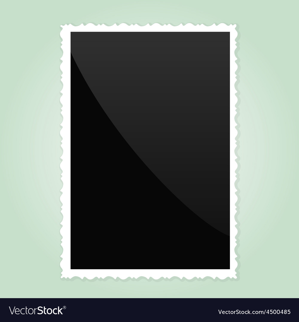Retro photo frame on green background vector | Price: 1 Credit (USD $1)