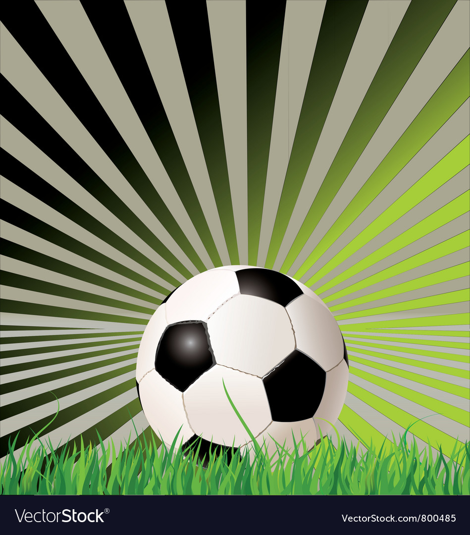 Soccer ball retro background vector | Price: 1 Credit (USD $1)