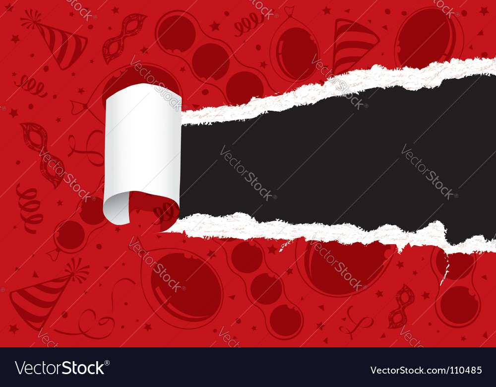 Torn party paper vector | Price: 1 Credit (USD $1)