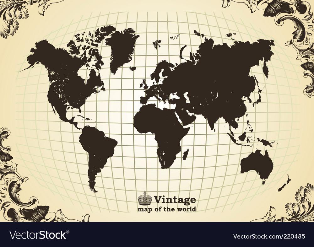 Vintage map vector | Price: 1 Credit (USD $1)