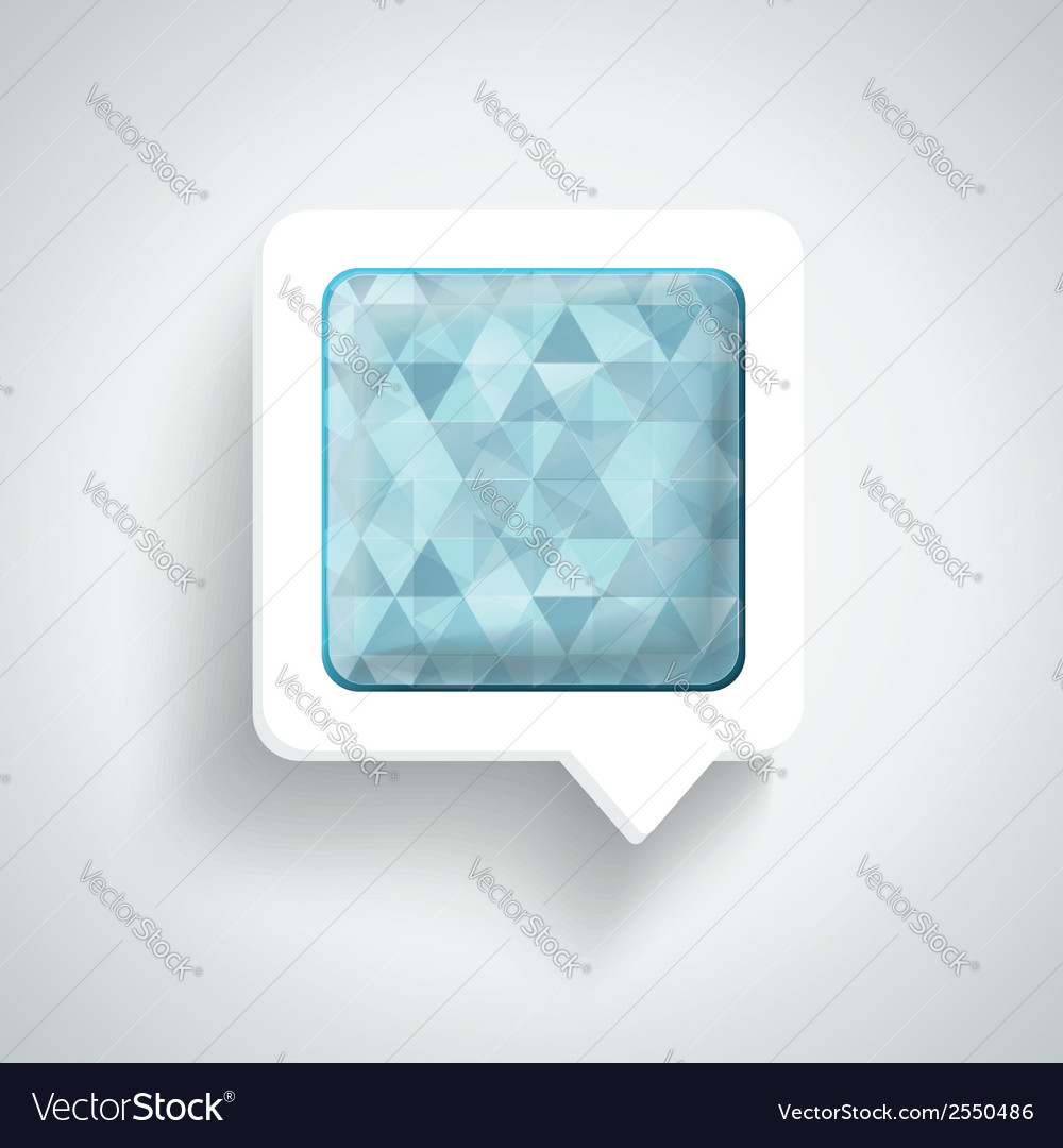 Abstract 3d design - speech bubble blue vector | Price: 1 Credit (USD $1)
