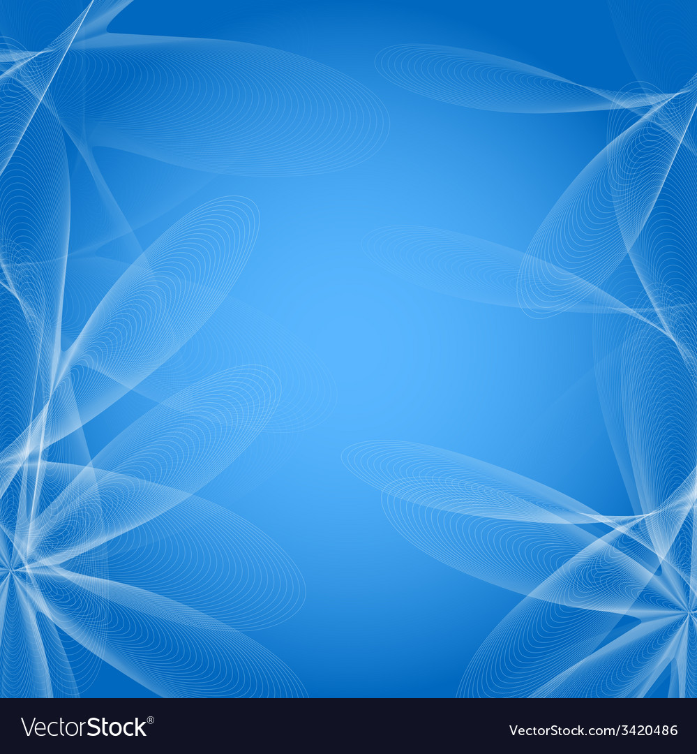 Abstract blue background with flowers of lines vector | Price: 1 Credit (USD $1)