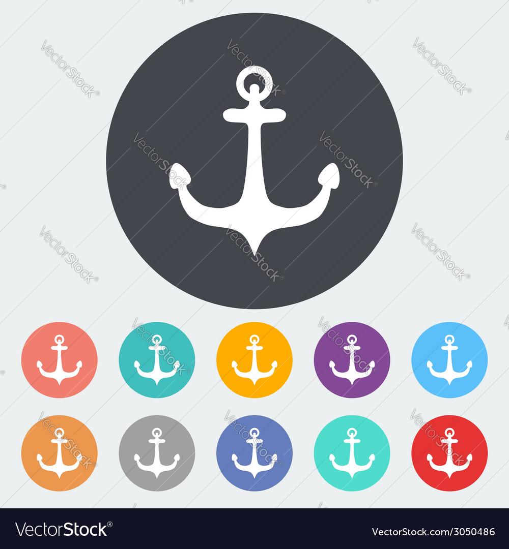 Anchor single icon vector | Price: 1 Credit (USD $1)
