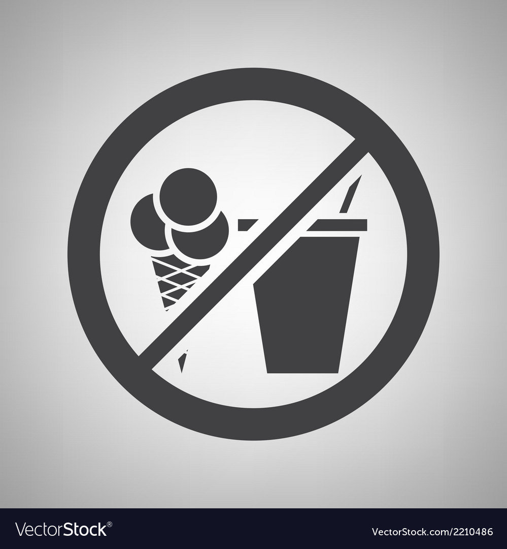 Do not eat icon vector | Price: 1 Credit (USD $1)