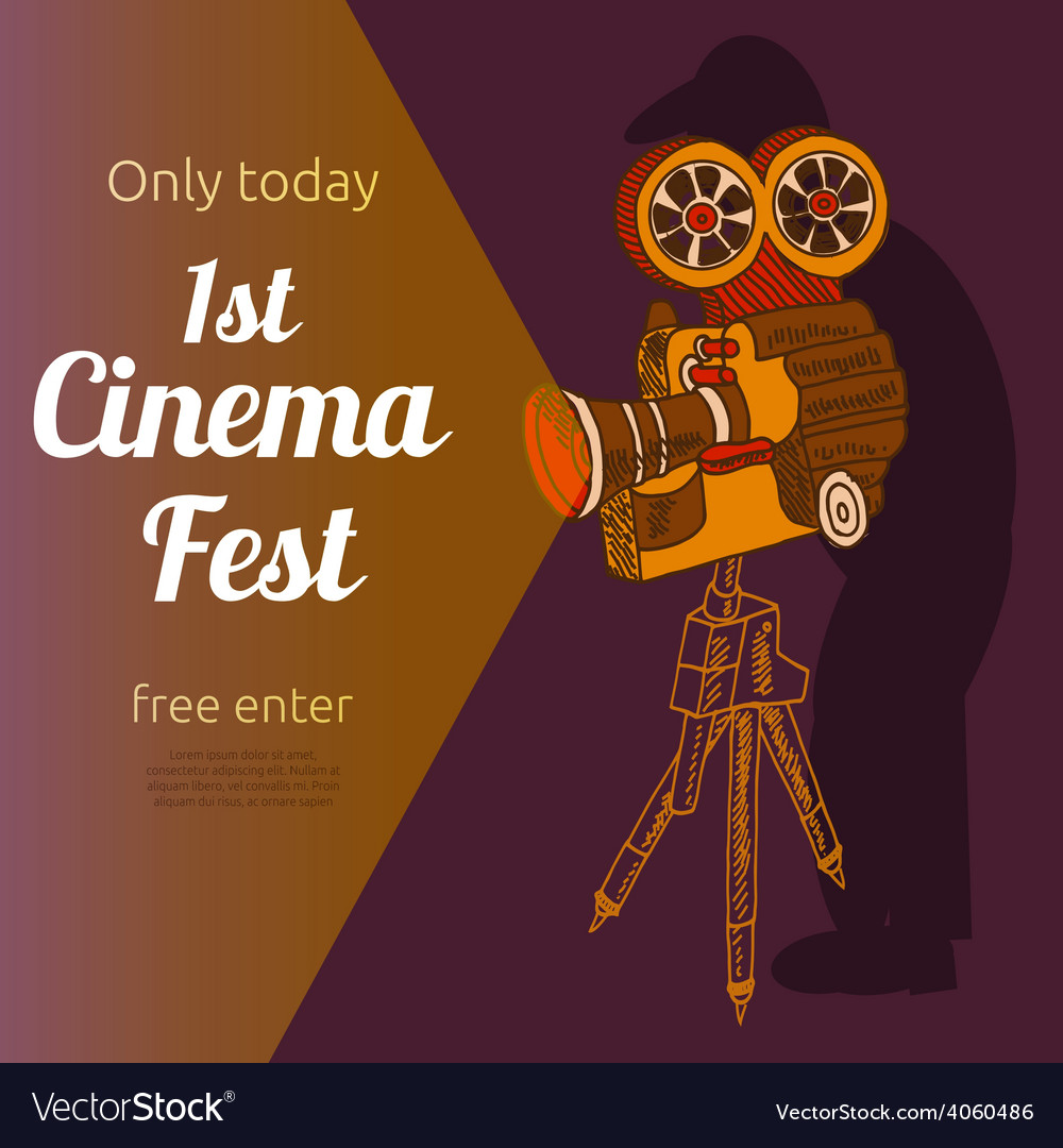 Film festival advertising poster vector | Price: 1 Credit (USD $1)