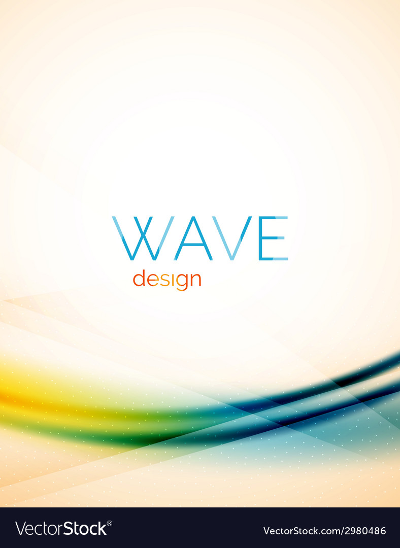 Flowing wave of blending colors vector   Price: 1 Credit (USD $1)