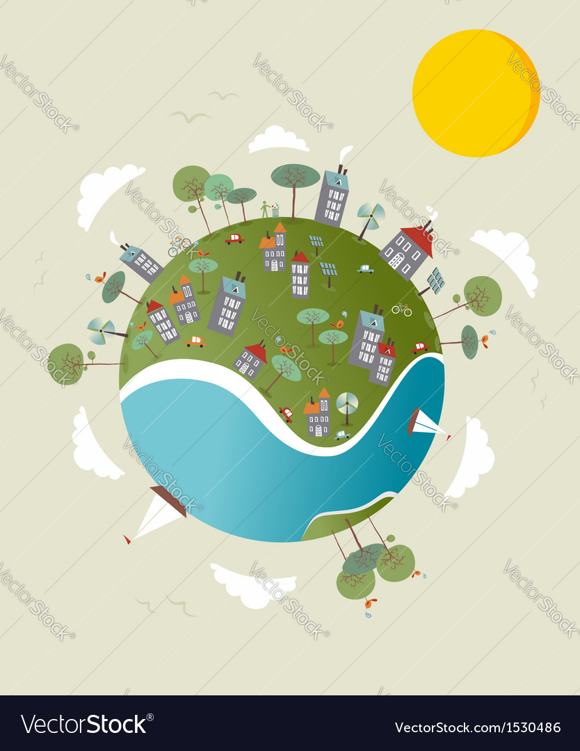 Go green world design vector | Price: 1 Credit (USD $1)