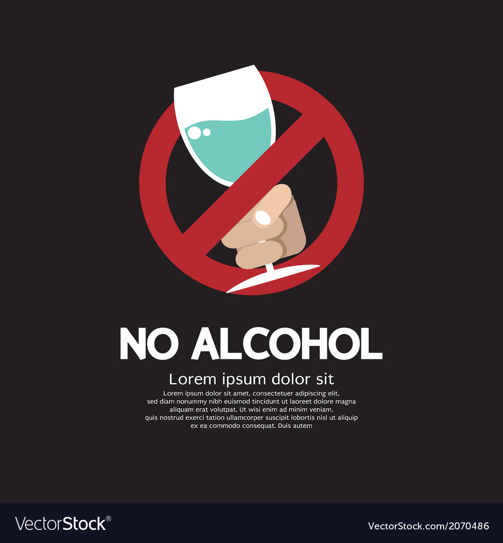 No alcohol vector | Price: 1 Credit (USD $1)