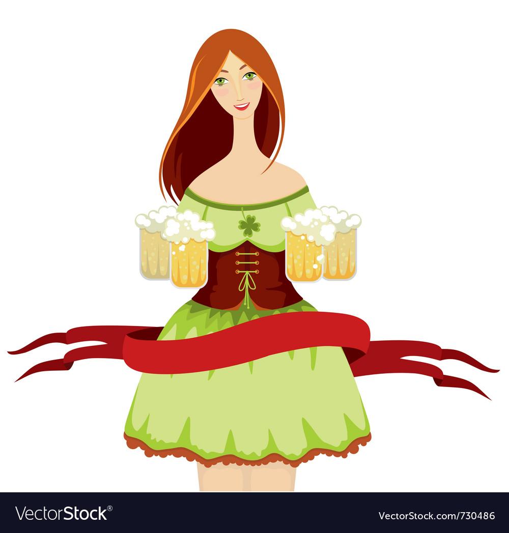 Oktoberfest girl beer vector   Price: 3 Credit (USD $3)