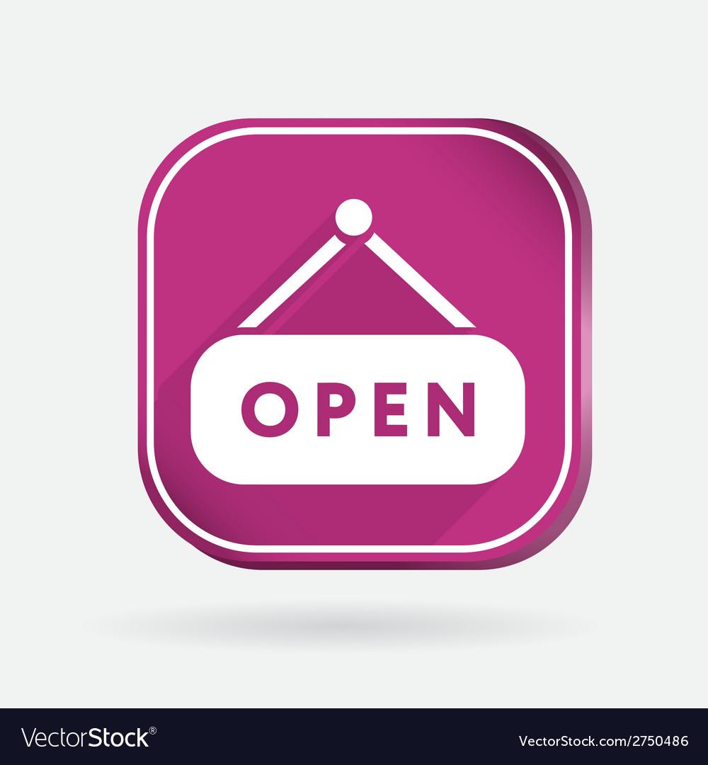 Open label sign color square icon vector | Price: 1 Credit (USD $1)