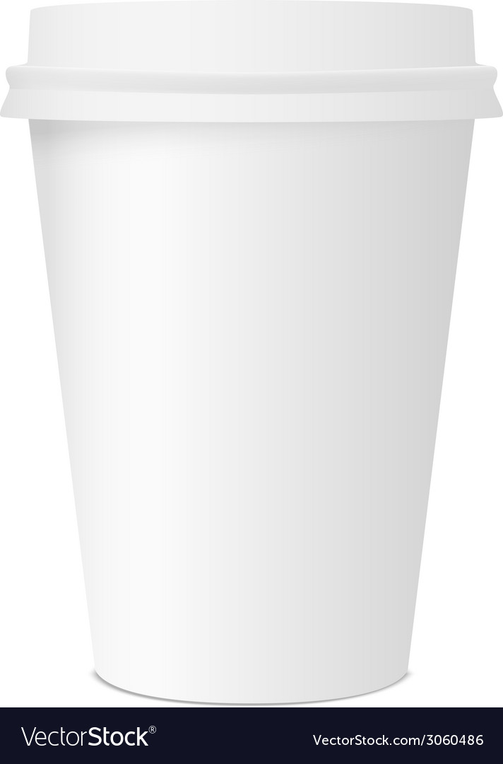 Paper cup for coffee isolated on white background vector | Price: 1 Credit (USD $1)