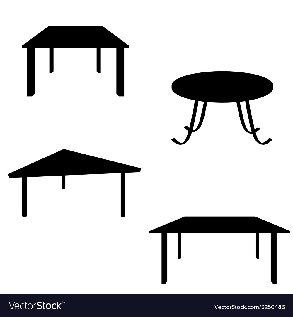 Room table black silhouette vector | Price: 1 Credit (USD $1)