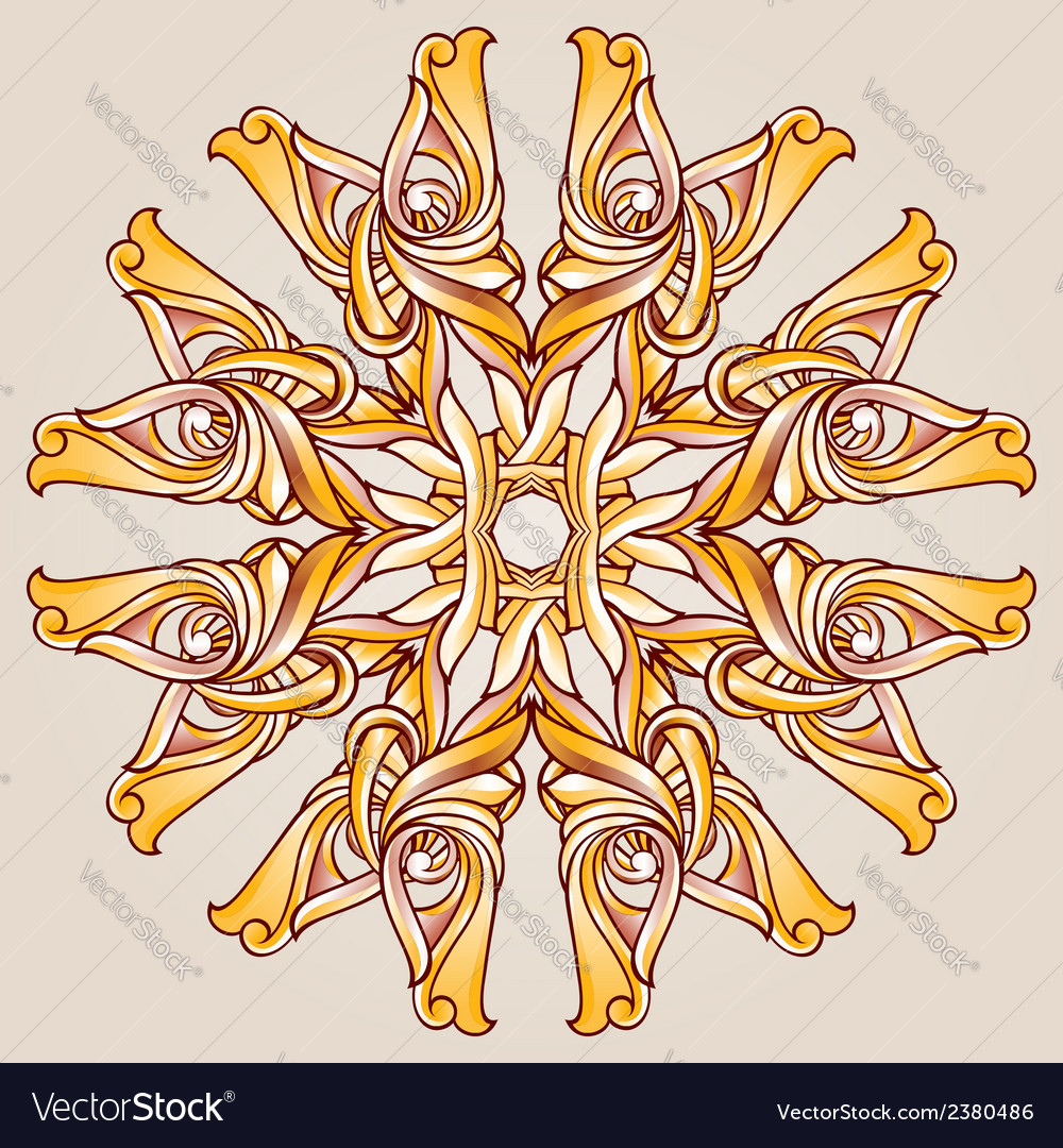 Round patterns vector | Price: 1 Credit (USD $1)