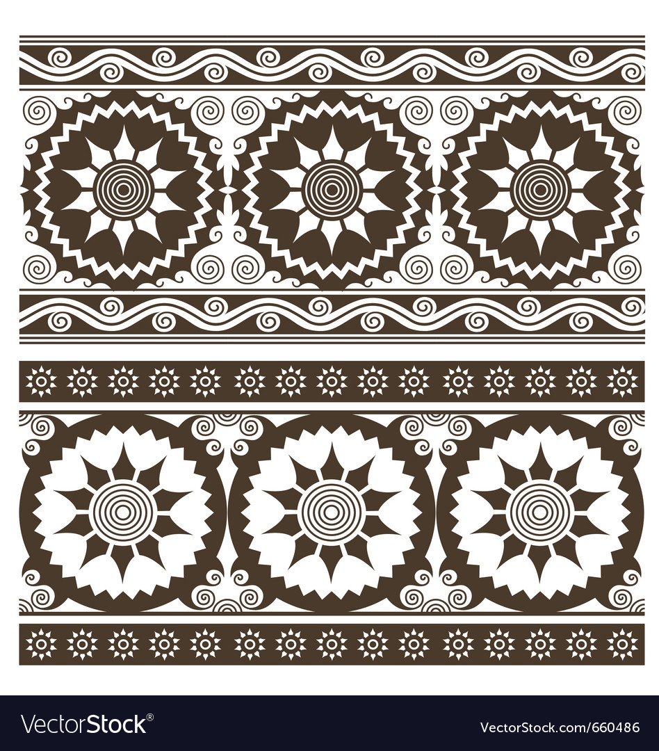 Scroll abstract indian pattern vector | Price: 1 Credit (USD $1)
