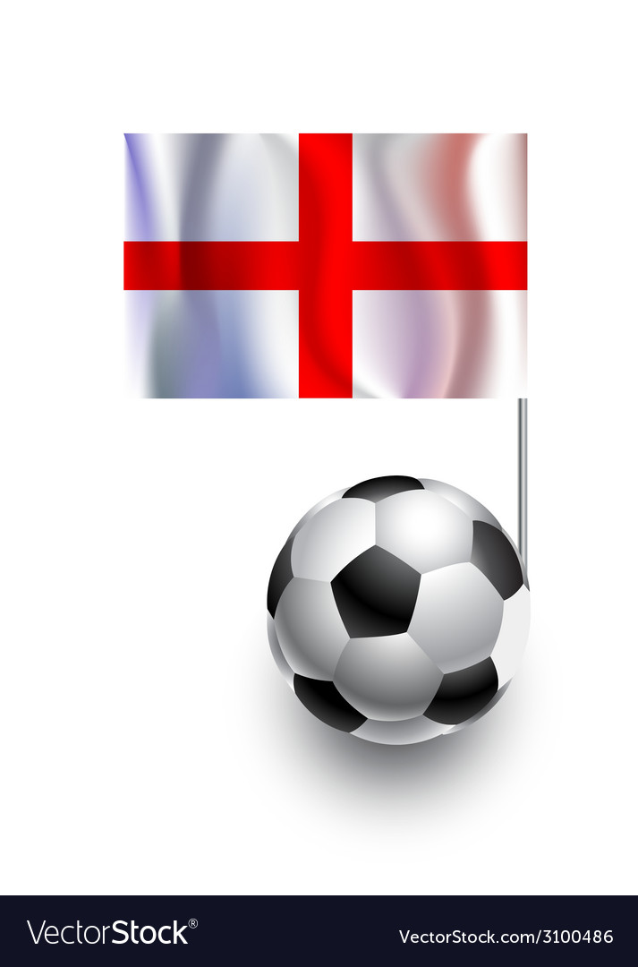Soccer balls or footballs with flag of england vector | Price: 1 Credit (USD $1)