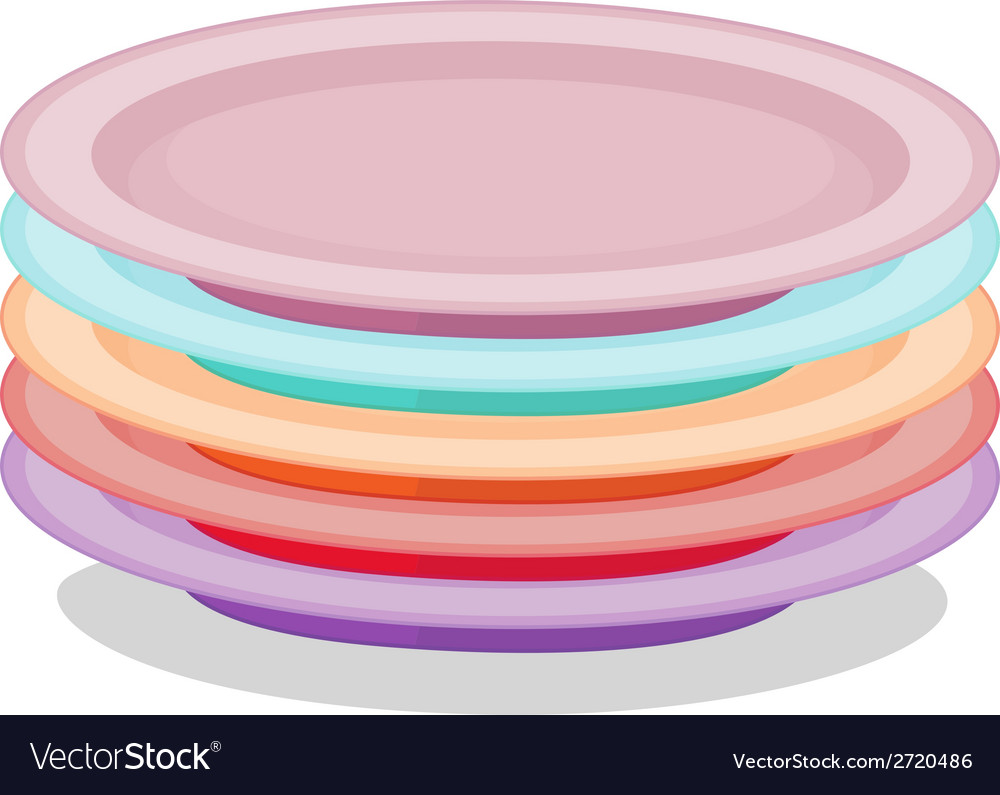Stack of plates vector | Price: 1 Credit (USD $1)