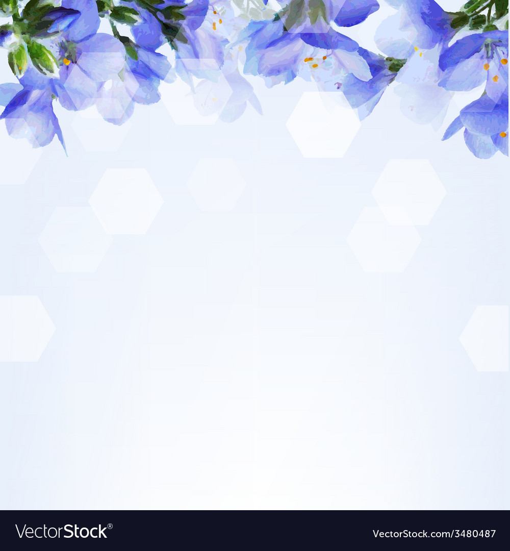 Blue flowers vector | Price: 1 Credit (USD $1)