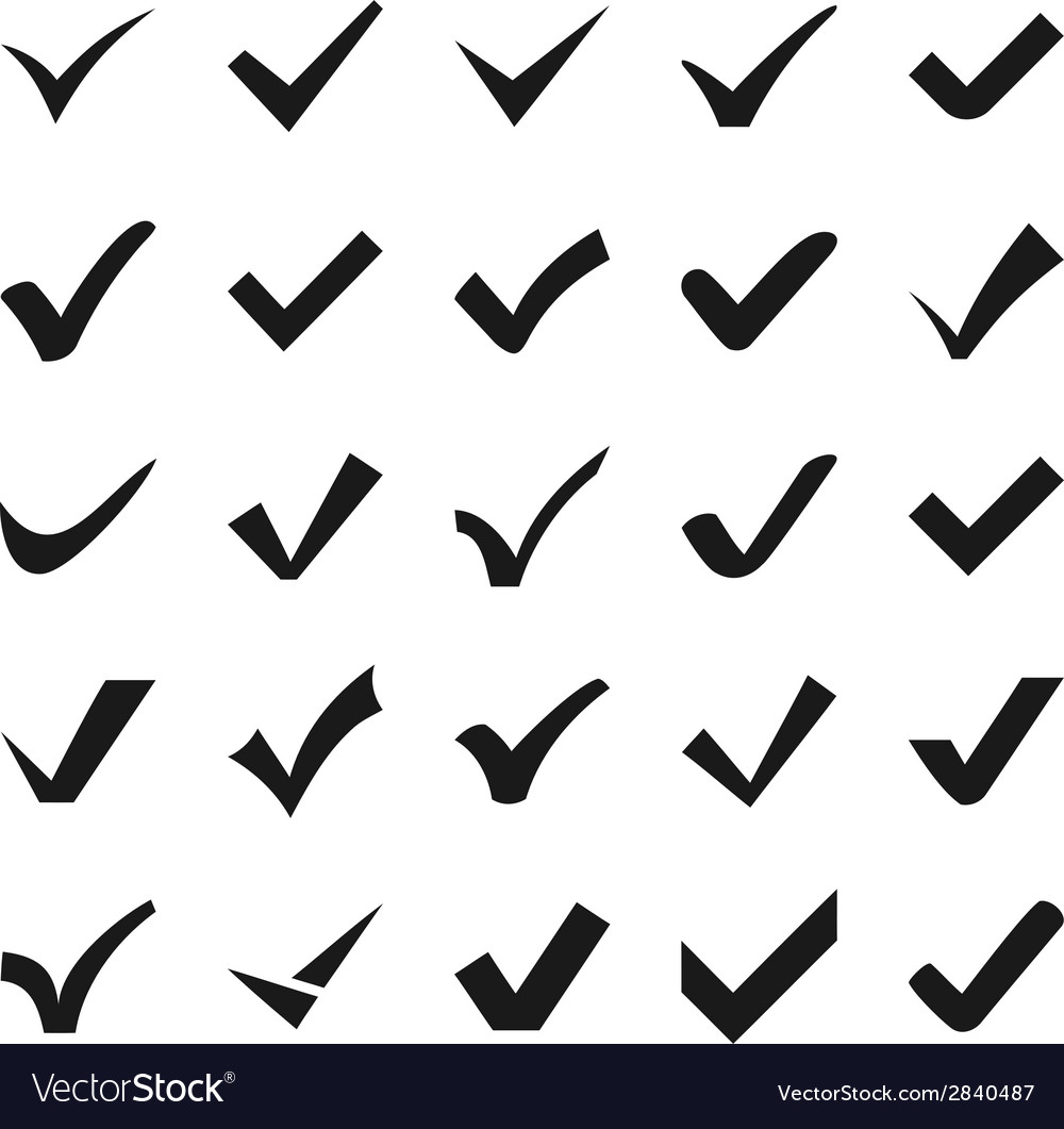 Check mark icons vector | Price: 1 Credit (USD $1)