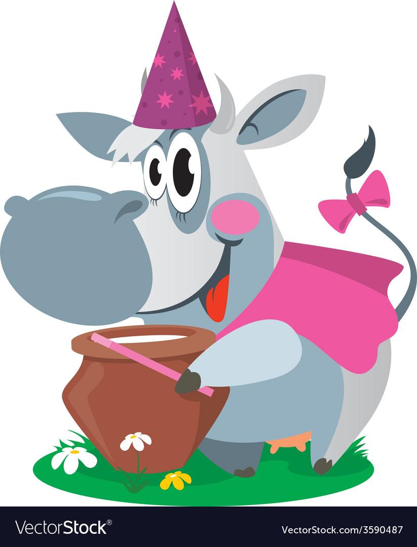 Cow with milk magic vector | Price: 1 Credit (USD $1)