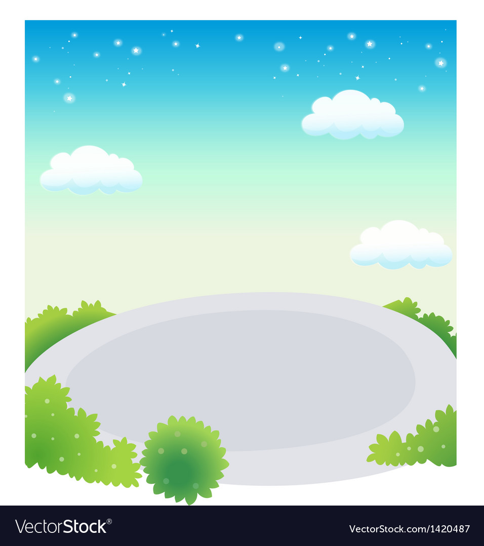 Empty swimming pool against blue sky vector | Price: 1 Credit (USD $1)