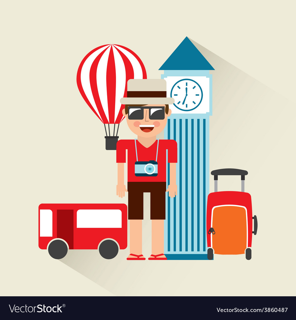 Holiday travel vector | Price: 1 Credit (USD $1)