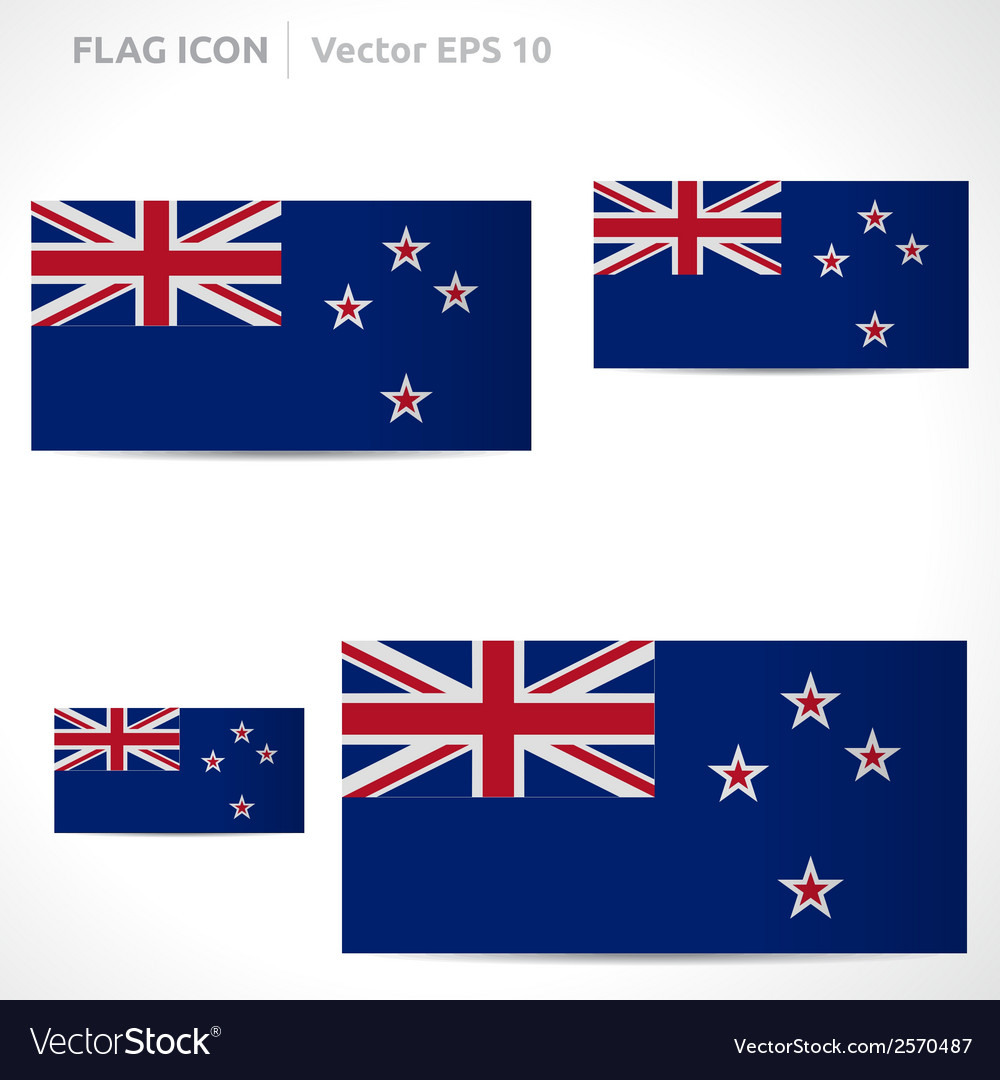 New zealand flag template vector | Price: 1 Credit (USD $1)