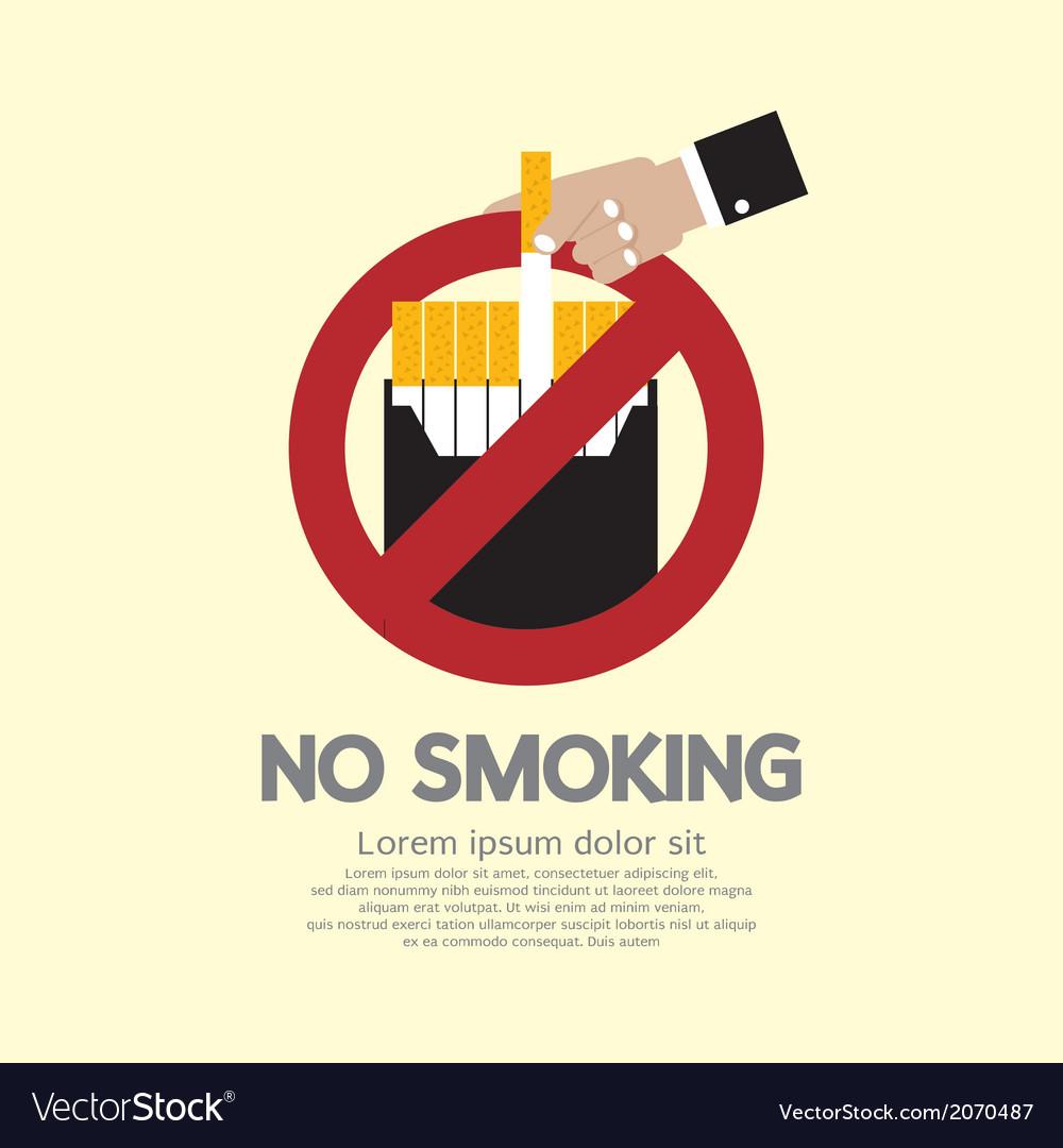 No smoking vector   Price: 1 Credit (USD $1)