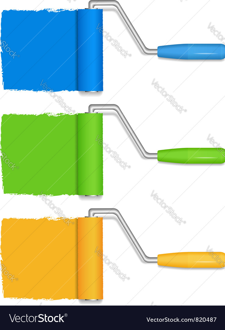Paint rollers vector   Price: 1 Credit (USD $1)